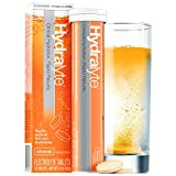 Hydralyte - Effervescent Electrolyte Tablets for On-The-Go Clinical Hydration, Orange, 20 Count - Effervescent Tablets...