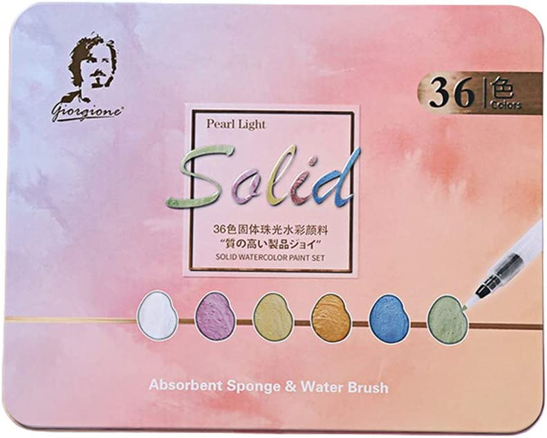 DEARLOYEA 36 48 Colors Solid Watercolor Set 35% OFF P Pigments Paint Brand new Art