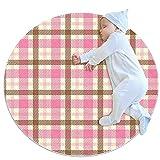 A cuadros, Los niños ronda de la alfombra de poliéster de tiro de la alfombra suave educativa lavable alfombra guardería tipi tienda de juego de la estera