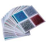 ENCOFT Topmail 24 Pièces Stickers Carrelage Auto-adhésif Imperméable en PVC Design de Carreaux de Ciment Autocollant Mural Décoratif pour Cuisine Salle de Bain (Fissure de Glace, 15x15cm)