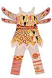 Lito Angels Mädchen Kostüm Verrücktes Kleid Feenhaftes Kleid Festkleid Weihnachten Halloween...