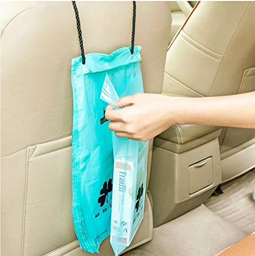 LareinaXXX Car Biodegradable Trash Bag, Disposable Garbage Bag, Best Can Bin Container of Waste Rubbish Litter for Auto Vehicle Office Kichen bathroom (50 Pack)