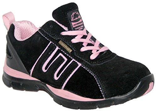 Zapatillas de seguridad para mujer, acero en la punta de los dedos, con cordones, ligeras, color multicolor, talla 42
