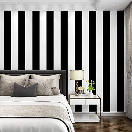 Papel pintado pared Gris Clásico Negro impermeable de PVC f