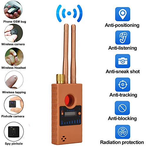 Sale!! ZXYSR Anti Spy RF Detector Wireless Bug Detector Signal for Hidden Camera Laser Lens GSM List...
