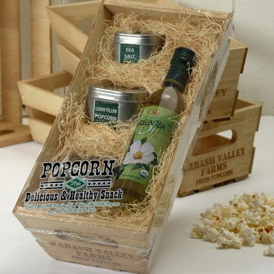 Wabash Valley Farms Organic Wooden Crate Green Tea Oil