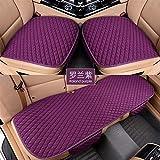 Cubiertas de asiento de carro de lino delantero / trasero / conjunto completo Elija el asiento del coche Cojín de lino de la tela del asiento del asiento del protector Accesorios para automóviles anti