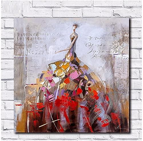 XMYC Cuadros de Pared Danza de la Vida Arte de la Pared Pintura Póster Imágenes Impresas Impresiones en Lienzo para la decoración de la Sala de Estar Gift80x80cm sin Marco