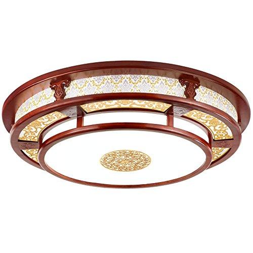 BRIGHTLLT Neue chinesische Decke lampen Licht Zirkular Echtholz Wohnzimmer Jugendstil chinesischen Licht Acryl antiken chinesischen, 580 mm Lampen