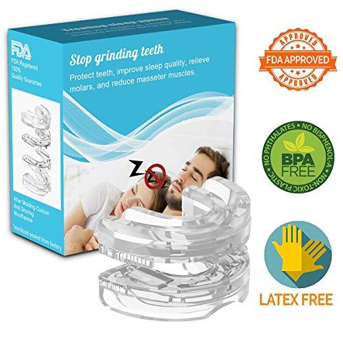 Schnarchstopper,Schnarchschutz Anti Schnarch Premium Schnarchschiene Nasenspreizer Aufbissschiene,Hilft Gegen Schnarchen,Schlafapnoe,Nasendilator mit FDA Zertifizierung