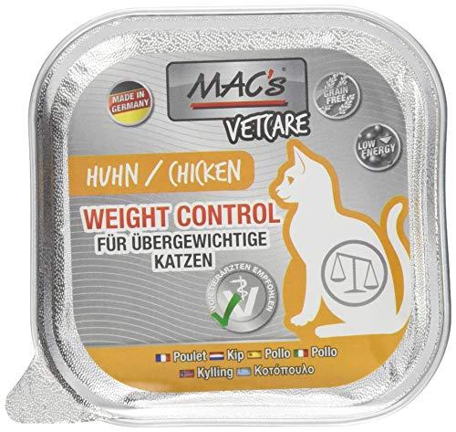 Mac\'s Katzenfutter getreidefrei Vetcare Huhn Weight Control, 16 x 100 g
