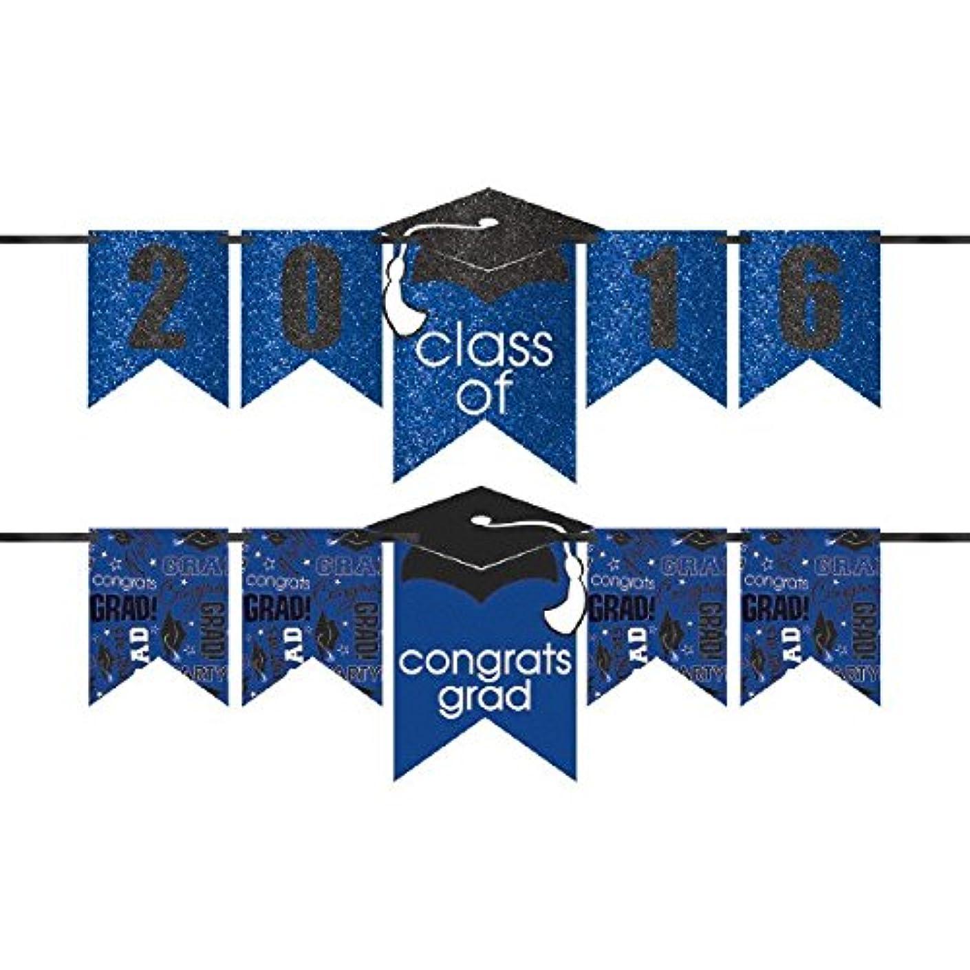 Amscan 210420.105 Glitter Letter Kit Banner, 12ft, Blue