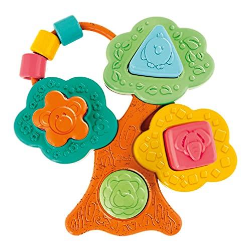 Chicco Gioco Baobab Forme e Incastri Eco+, Gioco a Forma di Albero con 4 Formine Geometriche da Incastrare, Realizzato in Plastica Riciclata, Made in Italy, Età 6-36 Mesi, Multicolore