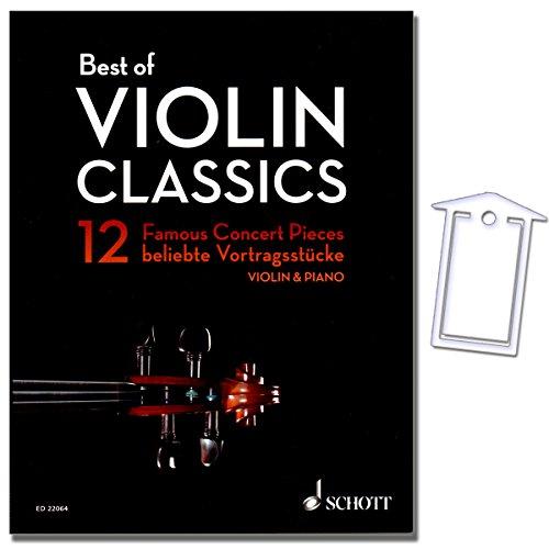 Best of Violin Classics - weltbekannte Vortragsstücke aus 4 Jahrhunderten für Violine und Klavier - Herausgeber Birtel Wolfgang - Noten mit NotenKlammer