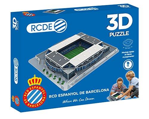 ELEVEN FORCE Puzzle EST 3D Rcde Stadium (RCD Espanyol) (63478), Multicolor, Ninguna