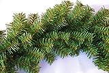 Geodezja Lublin Dekorative Weihnachtsgirlande Künstliche Tannengirlande in Grün 3m / 6m / 9m Weihnachtsdeko Grasgirlande für Innen- und Außenbereich (6m)