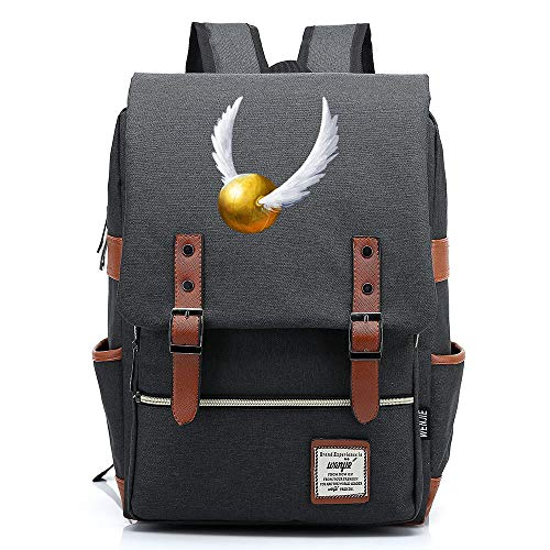 Gryffindor Hogwarts Insignia Daypack, Harry P Rucksack, Teenager School Backpack, Outdoor Oxford Backpack 16 inch. Color-01.