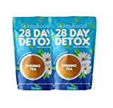 Skinny Boost Evening Tea (2 Pack) 28 Tea Bags Total, Supports Detox and Cleanse, Reduce Bloating, 100% All Natural, Vegan, Non GMO