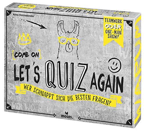 Moses 90136 (Come on) Let's Quiz Again | Wer schnappt Sich die besten Fragen | Quizspiel ab 12 Jahren, Mehrfarbig