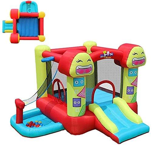 FGVDJ Castillo para niños al Aire Libre Tobogán para niños Zona de Juegos para niños Castillo Travieso Trampolín para niños Casa para niños Cama para Saltar Los Mejor