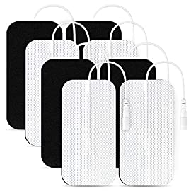 "AUVON TENS Unit Pads 2X4 8 Pcs, 3rd Gen Latex-Free Rectangular Replacement Pads Electrode Patches with Upgraded Self… 1 2""x4"" 8 Patches Set. We're always looking for new ways to bring our customers incredible value! When you shop with us, you'll receive 8 electrode pads in this jumbo pack. Each one is flexible and soft to the touch, helping you get the most from your TENS machine or EMS. They also feature gray cloth backing for durability and re-sealable packaging for a longer lifespan. CE, ROHS Approved. Highly ensured for optimal safety when getting fast relief through certifications, further protects you from harmful additives and consumption of prescription medication. Universal Compatibility. Standard 2mm connector TENS electrodes pads are classic and commonly used in medical area, which makes it easier for you to find compatible TENS unit muscle stimulator & accessories. It is compatible with the popular TENS / EMS unit such as AUVON Rechargeable TENS unit, United Surgical TENS 7000, HeathmateForever YK15AB, Santamedical LFM-110, truMedic TENS machine."