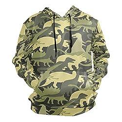 7. ZZKKO Store Pullover Dinosaur Camouflage Hoodie