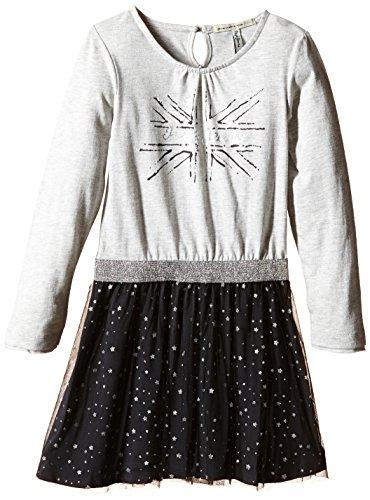 Pepe Jeans Dinae-Vestido Niñas,, gris, 4 años (Talla fabricante: 4)