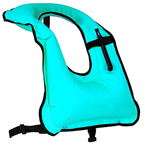 Rrtizan Schnorchelweste für Damen und Herren, aufblasbar, für Tauchen, Schwimmen, Sicherheit