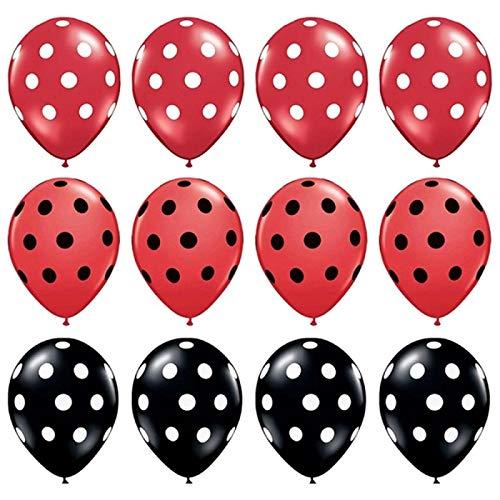 Globos de fiesta 12 unids/lote negro rojo blanco látex globos lunares punto onda cumpleaños boda fiesta decoración suministros niños juguete
