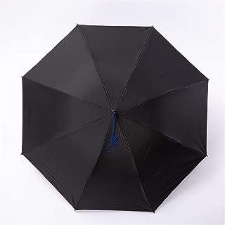 AUWANGAOFEI Multi-Color Headband Umbrella, 30% Off Outdoor Umbrella, Vinyl Weatherproof Anti-UV Umbrella (Color : Black)