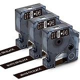 Markurlife kompatible Etikettenband als Ersatz für DYMO 45021 Weiß auf