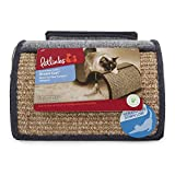 Petlinks Dream Curl Multi-Surface Cat Scratcher with Catnip Toy, Denim/Gray, Model Number: 49906