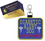 """WORKINGSERVICEDOG.COM """"Diabetic Alert Dog"""" - Clip On Identification Patch Tag - Includes Five Service Dog Handout Cards - Clips onto a Service Dog Vest, Harness, Collar, Leash or Carrier"""