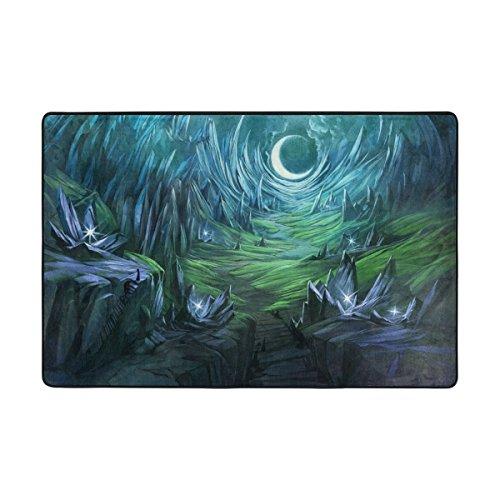 Ingbags Dreamy Paysage Crépuscule Valley Salon salle à manger Zone Rugs 3 x 2 pieds Chambre Rugs Bureau Tapis moderne Tapis de sol Tapis Home Decor, multicolore, 3 x 2 Feet