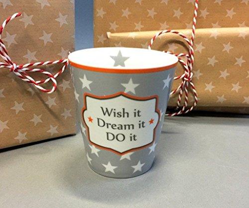 Krasilnikoff Tasse Wish it - dream it - do it