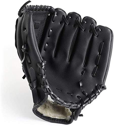 ZYYRSS Baseball-Handschuh für Kinder/Jugendliche/Erwachsene, Softball-Handschuhe, Sport-Schlaghandschuhe PU-Leder-Handschuh für die Linke Hand, Wurf für die rechte Hand (Schwarz, 10,5 Zoll)