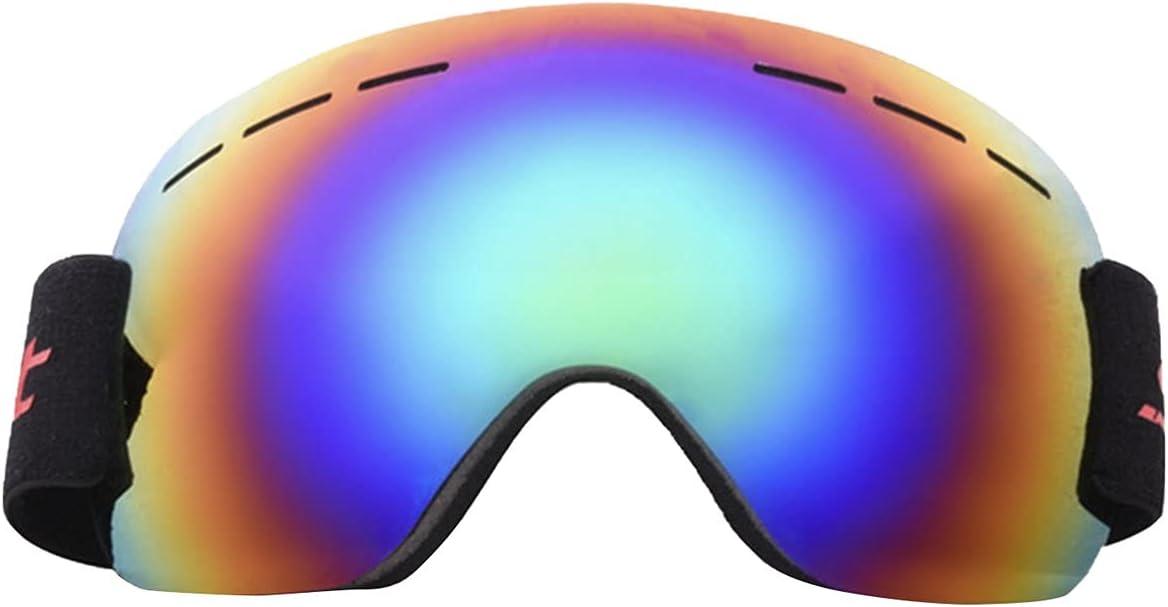 CloverGorge Diseño de Gafas de Nieve para esquí y Snowboard para Hombres y Mujeres con Lentes esféricas Desmontables, protección UV, Gafas antivaho