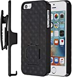 Verizon Shell Holster Combo Case for Apple iPhone SE / iPhone 5s / iPhone 5 - Black - Retail Package