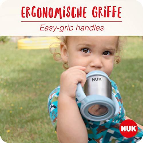 NUK Learner Cup Trinklernbecher, auslaufsicher, hochwertiger Edelstahl, langlebig und hygienisch, 125ml, 6-18 Monate, Rosa (Girl) - 2