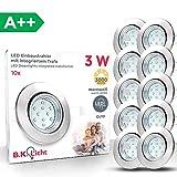 B.K. Licht lot de 10 spots LED encastrables orientables, livré avec 10 ampoules LED...