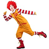 Ronald McDonald Cosplay Costume Outfit Suit for Hallowween L Yellow