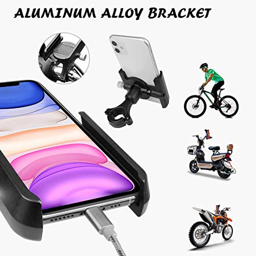 New Pangxiannv Bike Phone Mount Anti Shake and Stable Cradle Clamp with 360° Rotation Bicycle Phone...