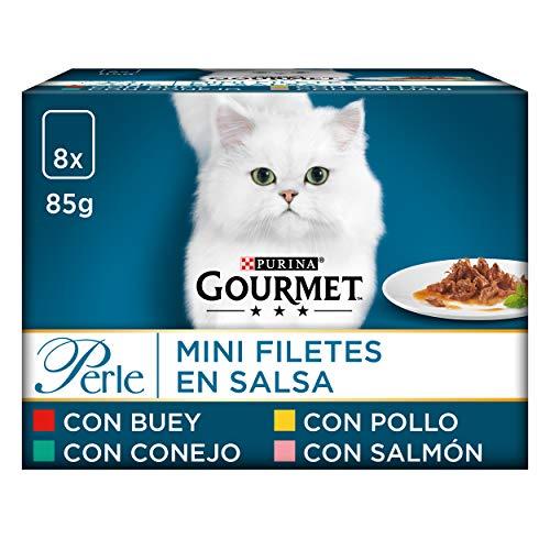 Purina Gourmet Perle Delicias en Salsa Surtido comida para gato 10 x [8 x 85 g]