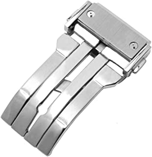 Nywing HUBLOTバックル 尾錠 22mm 24mm ウブロ Dバックルスチール 腕時計バンドプッシュ式Dバックル ウブロレザー時計ベルト対応 シルバー ゴールド ローズゴールド