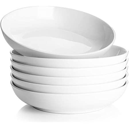 Sandwiches 10 White Thanksgiving Serving Dishes Salad Steak Salad Serving Plates Set of 6 DOWAN Dinner Plates Ceramic Serving Dishes for Pasta