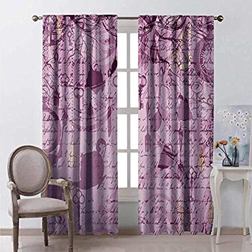 Blackout curtains to avoid light and noise, insulate heat in summer/block cold in winter, protect indoor furniture and reduce ultraviolet radiation Hanging teacup clock and tableware handwritten cal