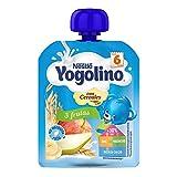 Nestlé Yogolino Postre lácteo Bolsitas con 3 Frutas y cereales - Para bebés a partir de 6 meses - Paquete de 16 unidadesx90g
