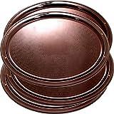 Maro Megastore - Bandejas decorativas (52 x 40 cm, 4 unidades), color bronce metálico