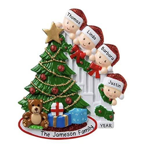 decorazioni natalizie famiglia Tianbi Nome Personalizzato Kit Ornamento Natalizio 2020 Famiglia Sopravvissuta alla Quarantena Albero di Natale Personalizzato Appeso Decorazione Scrittura a Mano Fai da Te Creativo