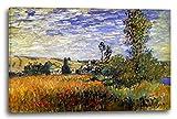 Leinwand (120x80cm): Claude Monet - Weg durch die Mohnfelder, ILE Saint-Martin